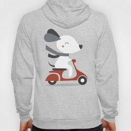 Kawaii Cute Dog Riding A Scooter Hoody