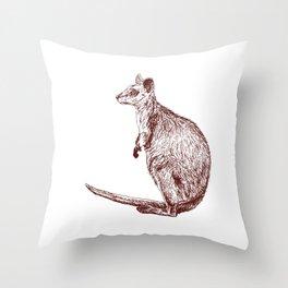 Swamp Wallaby Throw Pillow