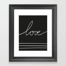 LOVEBLCK Framed Art Print