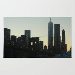 New York City Skyline at Dusk Rug