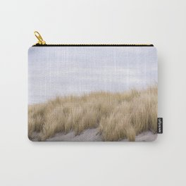 Field of grass growing in the sand Carry-All Pouch