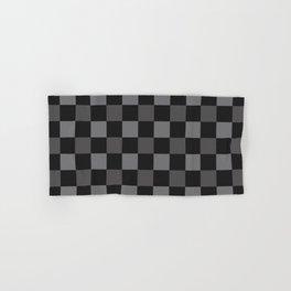 Black & Grey Checkered Plaid Squares Hand & Bath Towel