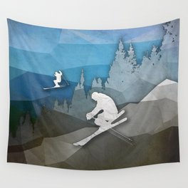 The Skiers Wall Tapestry
