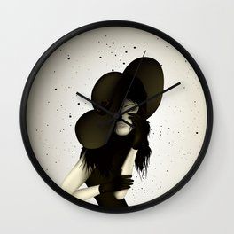 girl in the hat Wall Clock