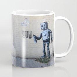 Banksy Robot (Coney Island, NYC) Coffee Mug
