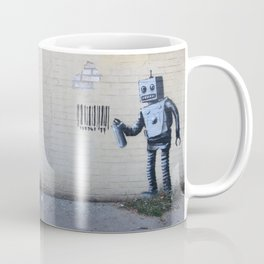Banksy Robot (Coney Island, NYC) Coffee Mug