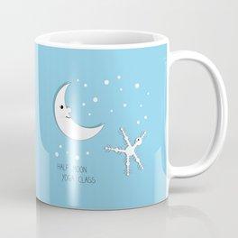 Half moon yoga class cartoon drawing Coffee Mug