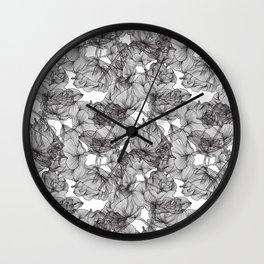 Black Roses Wall Clock