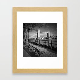 LONDON Thames Riverside & Tower Bridge Framed Art Print