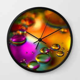 """""""Floating Droplets"""" Wall Clock"""