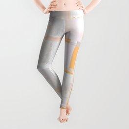 Sea Sparkle Peach Leggings