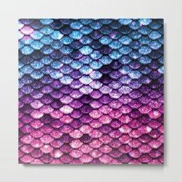 Mermaid Tail Pink Purple Blue Metal Print