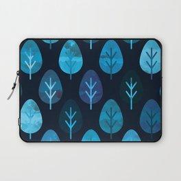 Watercolor Forest Pattern Laptop Sleeve