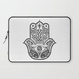 Black and White Mosaic Hamsa Laptop Sleeve