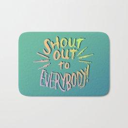 Shout Out Bath Mat