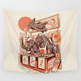 Kaiju street food Wall Tapestry