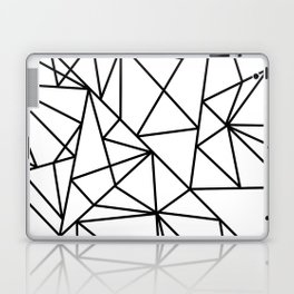 Black white modern abstract geometrical pattern Laptop & iPad Skin