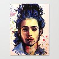 ezra koenig Canvas Prints featuring Ezra Miller by Olga Noes