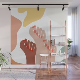 We persist - Girls hands - girlpower  Wall Mural