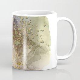 Alcohol ink art, pastel ink art, gold alcohol ink art, gold foil details Coffee Mug