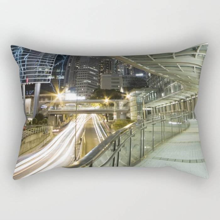 Hong Kong-Night View Rectangular Pillow