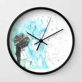 A Rainy Date Wall Clock