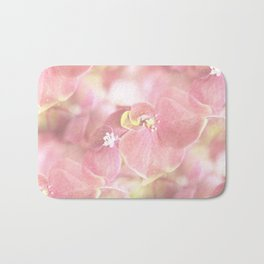 Some Soft Pink Flowers Hydrangea #decor #society6 Bath Mat