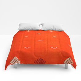(N6) Vintage Orange Anthropologie Moroccan Artwork. Comforters