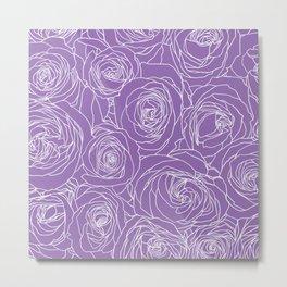 Amethyst Roses Metal Print