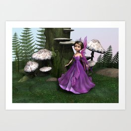 Fairy in Woodland Art Print