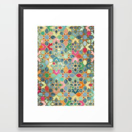 Gilt & Glory - Colorful Moroccan Mosaic Framed Art Print