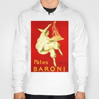 pasta Hoodies featuring Pasta Baroni Leonetto Cappiello by aapshop