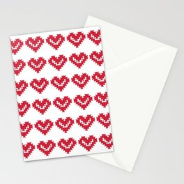 VALENTINE CROSSES Stationery Cards