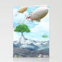 ballon Stationery Cards featuring Ballon Skyline by The Film Guy