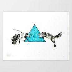 Headlock, wasp and fox Art Print