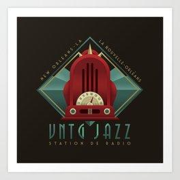 Vintage Jazz Radio Station Art Print