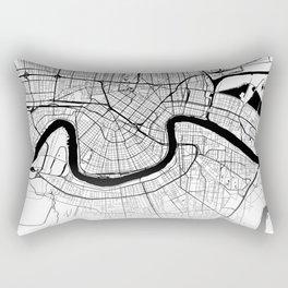 Map of the City Neck Gaiter New Orleans Louisiana Map Neck Gator Rectangular Pillow