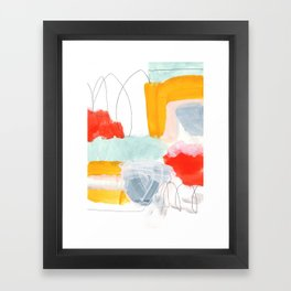 abstract painting XVI Framed Art Print