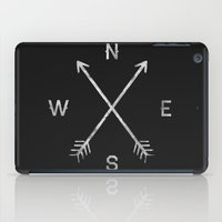 letter iPad Cases featuring Compass by Zach Terrell