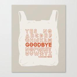 Plastic Bag Ouija Board Canvas Print