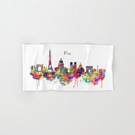 Paris Skyline Silhouette Hand & Bath Towel