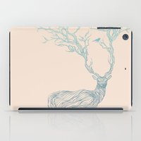 texture iPad Cases featuring Blue Deer by Huebucket