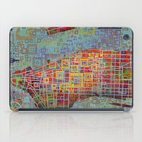 new york map iPad Cases featuring New York map by Bekim ART