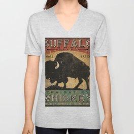 Bison Buffalo Whiskey Bourbon Unisex V-Neck