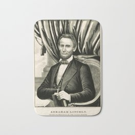 Abraham Lincoln - Sixteenth President of the United States Bath Mat