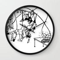 tape Wall Clocks featuring Tape by Dan Ashwood
