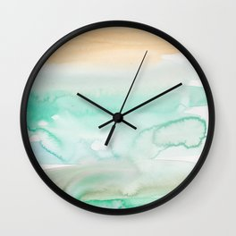 12   | Abstract Minimal Watercolor Painting | 191223 Wall Clock