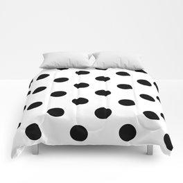 Polkadot (Black & White Pattern) Comforters