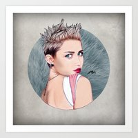 miley cyrus Art Prints featuring Miley Cyrus by Will Costa