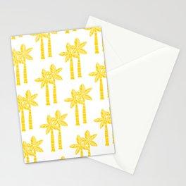 Palm Tree Pattern Yellow Stationery Cards